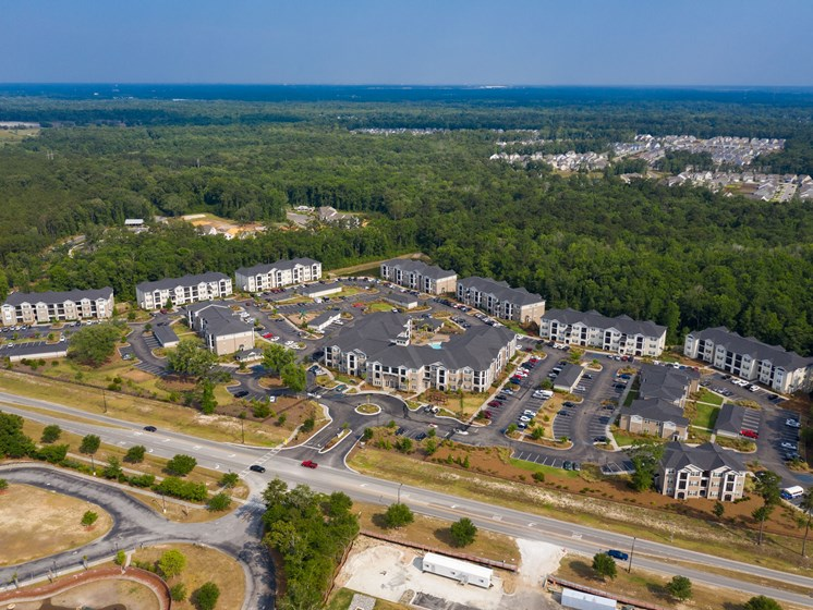 Aerial View Of Apartment at Abberly Crossing Apartment Homes, Ladson, South Carolina