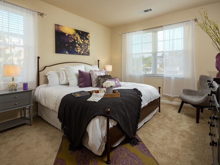 Apartment Master Bedroom at Abberly Crossing Apartment Homes by HHHunt, South Carolina