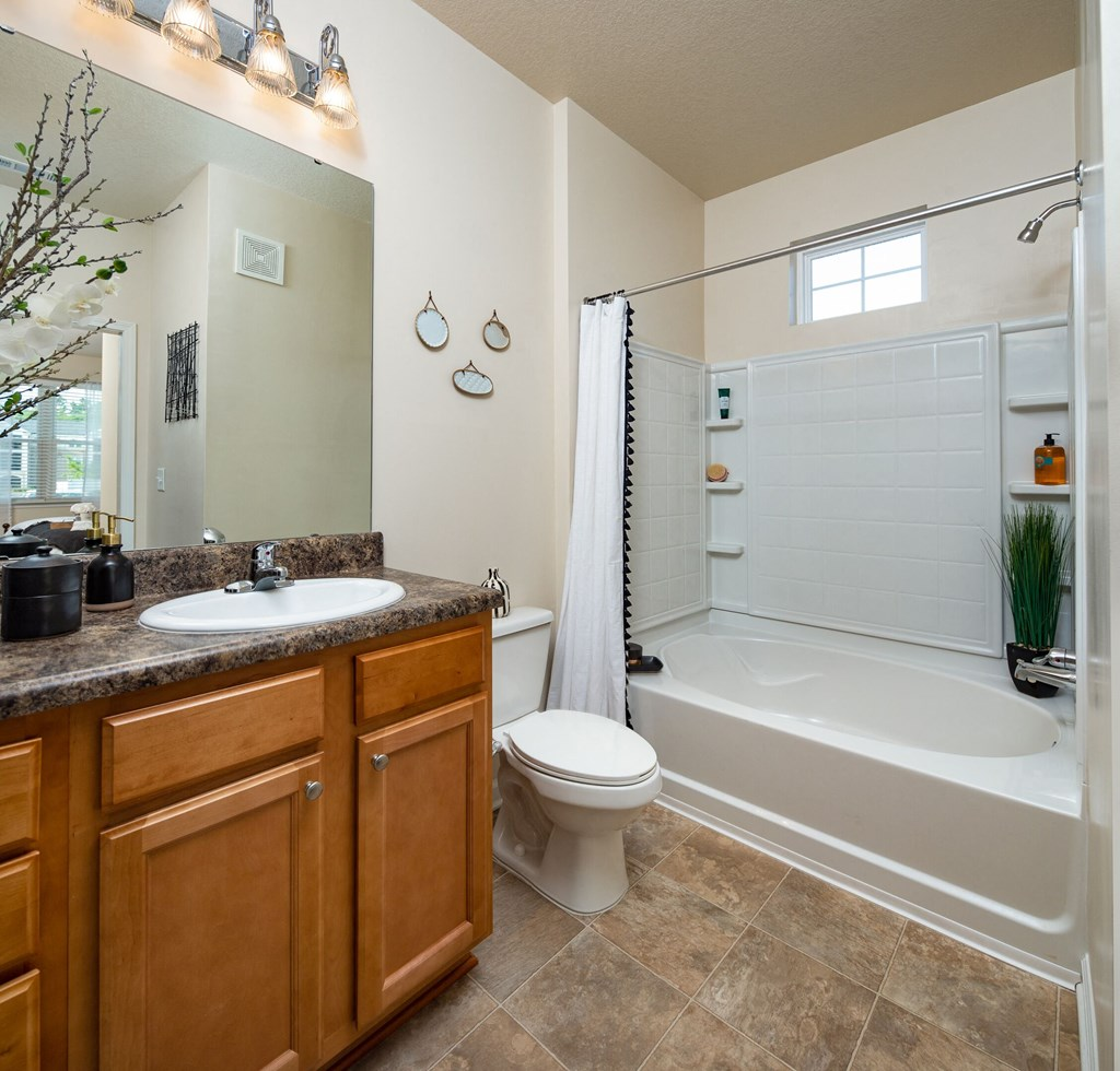 Upgraded Bathroom Fixtures at Abberly Crossing Apartment Homes by HHHunt, Ladson, 29456