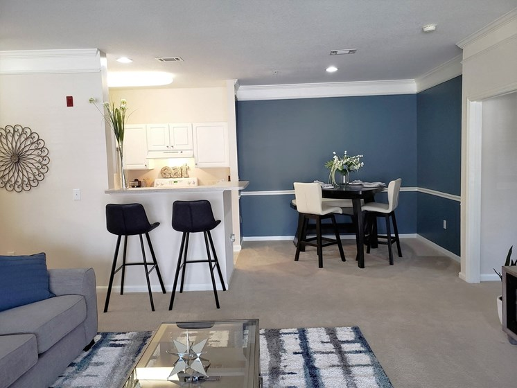 Eat-In Open Kitchen Floorplan at Abberly Grove Apartment Homes, Raleigh