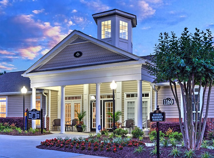 Gated Entrance with beautiful lighting effects at Abberly Grove Apartment Homes, Raleigh, 27610