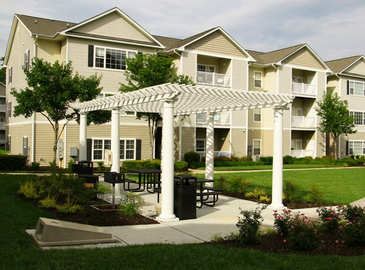 Beautifully Landscaped Groundsat Abberly Grove Apartment Homes, Raleigh North Carolina
