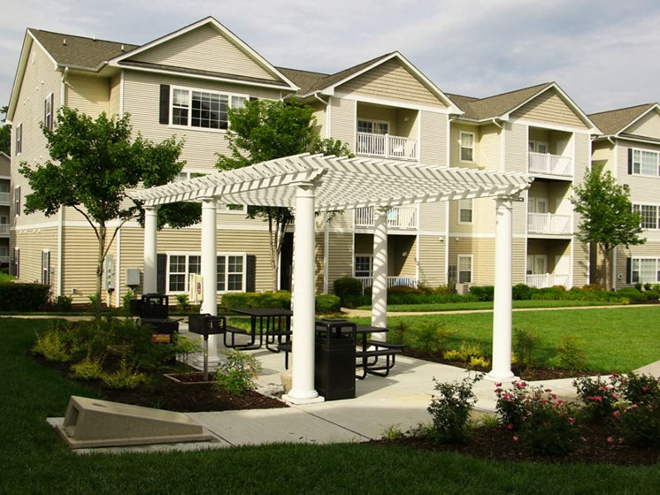 Beautifully Landscaped Grounds at Abberly Grove Apartment Homes, Raleigh North Carolina