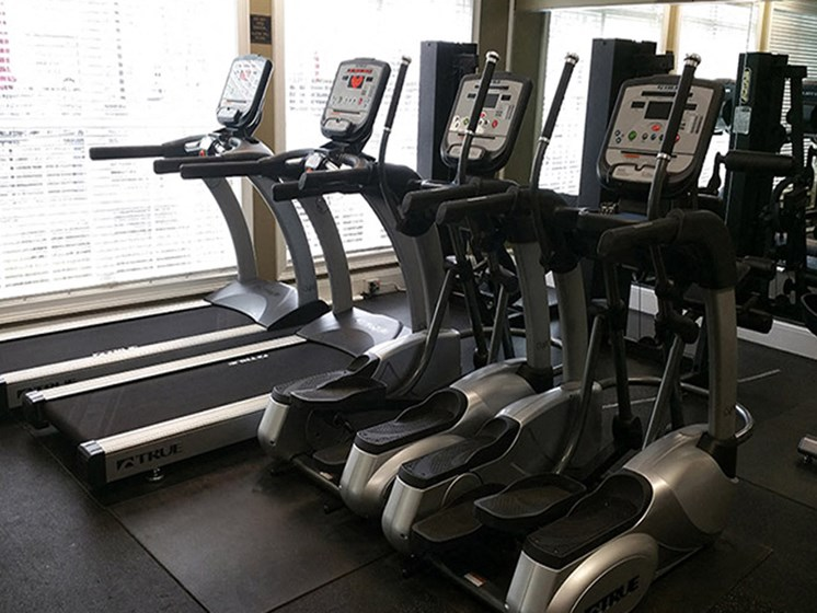 Get a challenging workout in our 24-hour state-of-the-art fitness center at Abberly Grove Apartment Homes, North Carolina