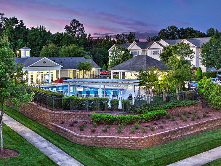 Poolside Sundeck and Grilling Area at Abberly Grove Apartment Homes, Raleigh