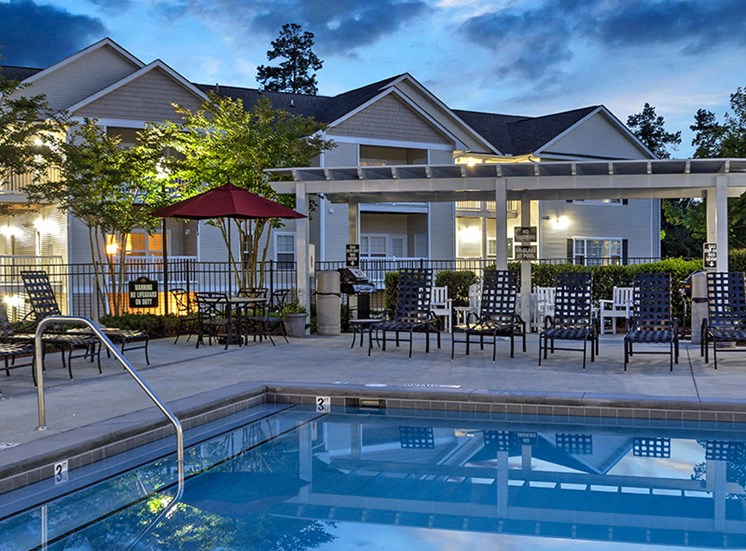 Swimming Pool with Lounge Chairs at Abberly Grove Apartment Homes, North Carolina, 27610