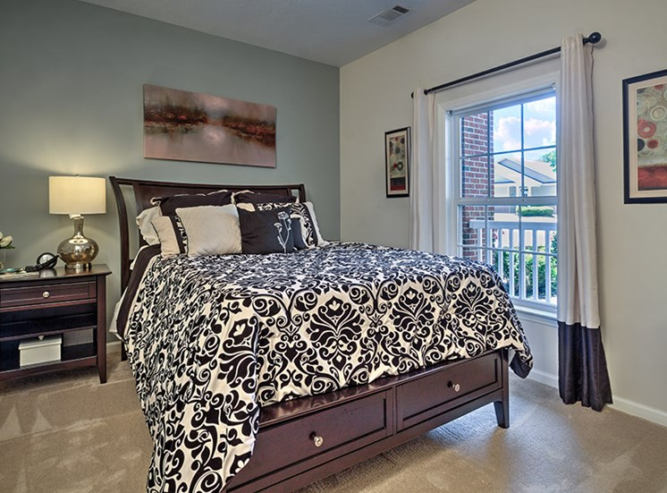 Live in cozy bedrooms at Abberly Grove Apartment Homes, North Carolina