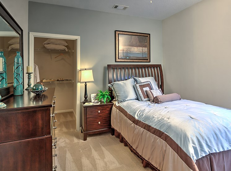 Master suites give you plenty of room to relax after a long day at Abberly Grove Apartment Homes, Raleigh, NC 27610