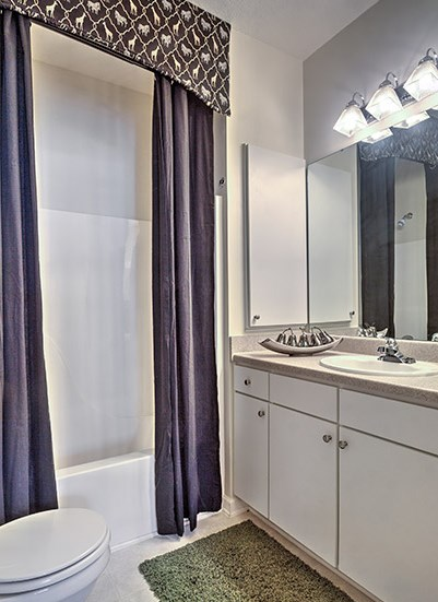 Private bathroom suites with every master bedroom at Abberly Grove Apartment Homes, Raleigh North Carolina