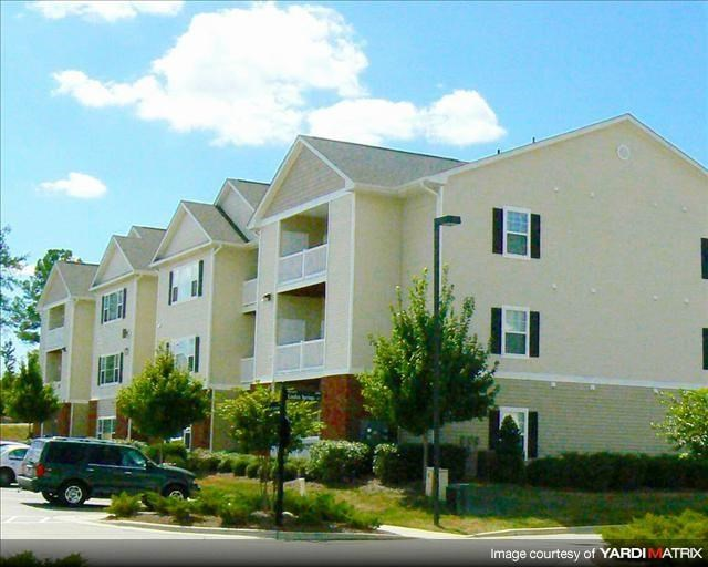 Freshly painted exteriors at Abberly Grove Apartment Homes, Raleigh, NC