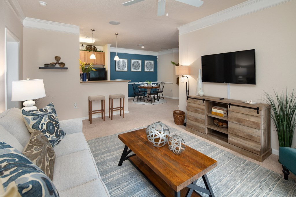 One and Two Bedroom Open Floor Plan Options at Abberly Pointe Apartment Homes by HHHunt, Beaufort
