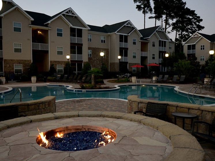 Blue Cool Swimming Pool at Abberly Pointe Apartment Homes by HHHunt, Beaufort, 29935