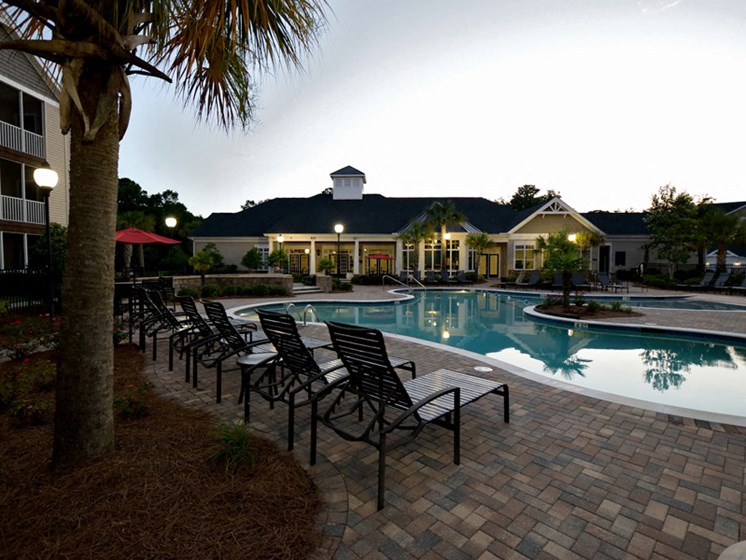 Sparkling Swimming Pool at Abberly Pointe Apartment Homes by HHHunt, Beaufort, SC