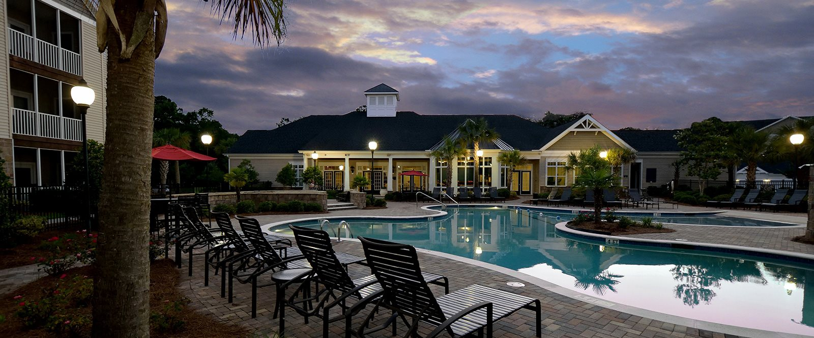 Poolside Large Sundecks at Abberly Pointe Apartment Homes, Beaufort, SC, 29935
