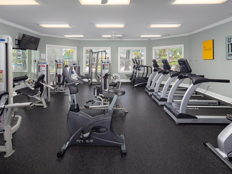Modern Fitness Center at Abberly Chase Apartment Homes by HHHunt, Ridgeland, 29936