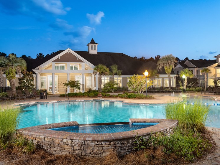 Front Pool View at Abberly Chase Apartment Homes by HHHunt, South Carolina