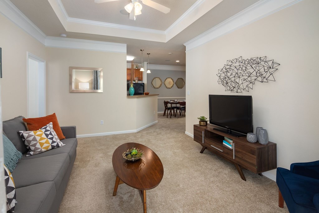 Bright Living Room at Abberly Chase Apartment Homes by HHHunt, Ridgeland, 29936