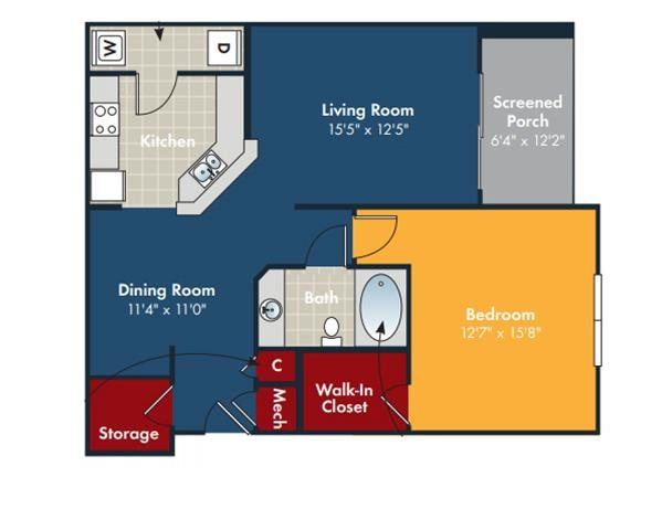Coolgrass Floorplan at Abberly Chase Apartment Homes by HHHunt, Ridgeland