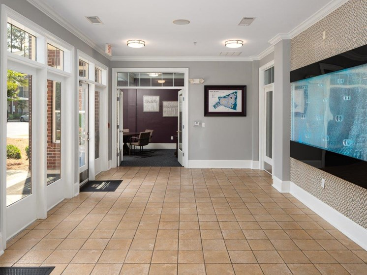 Hallway Interior To Business Center at Abberly Village Apartment Homes, West Columbia, South Carolina