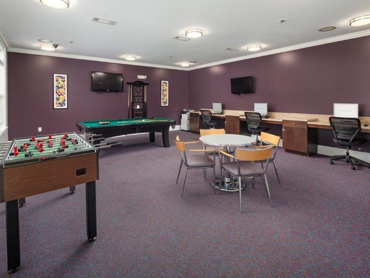 Snooker Table With PC's at Abberly Village Apartment Homes by HHHunt, West Columbia, SC
