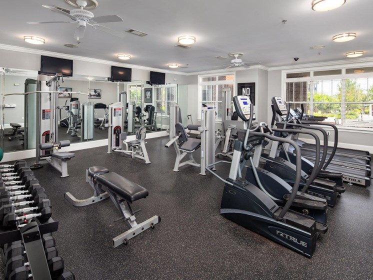 Modern Fitness Center at Abberly Village Apartment Homes by HHHunt, West Columbia, 29169