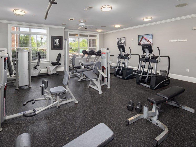 Two State-Of-The-Art Fitness Facility With Yoga And Strength Training at Abberly Village Apartment Homes, West Columbia, South Carolina