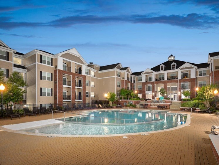 Crystal Clear Swimming Pool at Abberly Village Apartment Homes, South Carolina, 29169