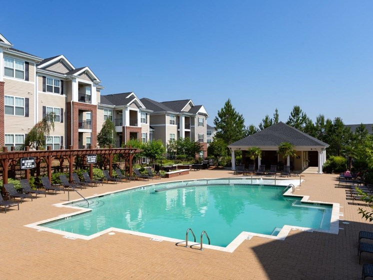 Swimming Pool With Relaxing Sundecks at Abberly Village Apartment Homes, West Columbia