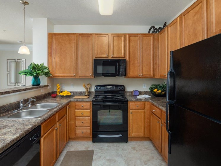 Efficient Appliances In Kitchen at Abberly Village Apartment Homes, West Columbia, SC, 29169