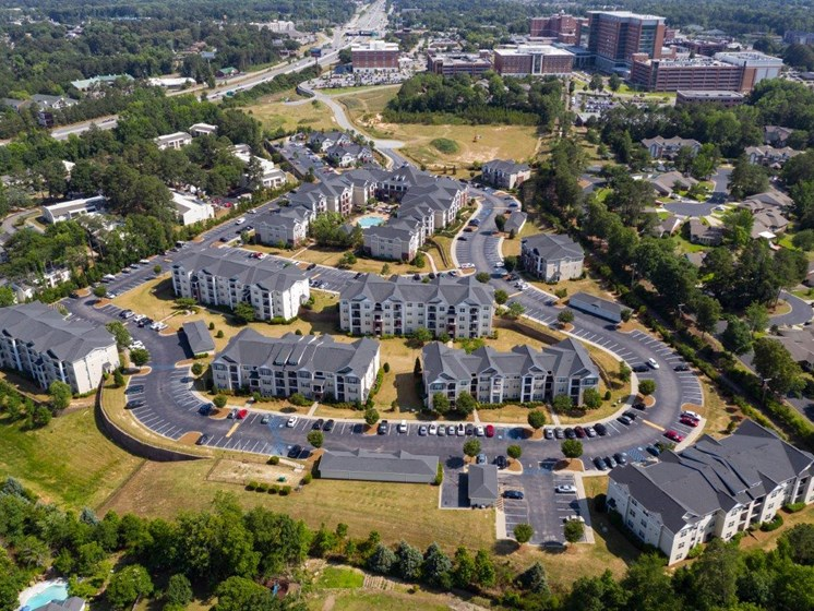 Aerial View Of The Property at Abberly Village Apartment Homes by HHHunt, West Columbia, SC
