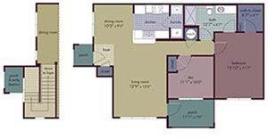 Myst Floorplan at Abberly Village Apartment Homes, West Columbia