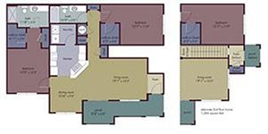 Remy Floorplan at Abberly Village Apartment Homes, West Columbia, SC, 29169