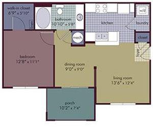 Amalia Floorplan at Abberly Village Apartment Homes, West Columbia