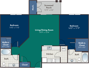 Tremont Floorplan at Abberly at West Ashley Apartment Homes, Charleston