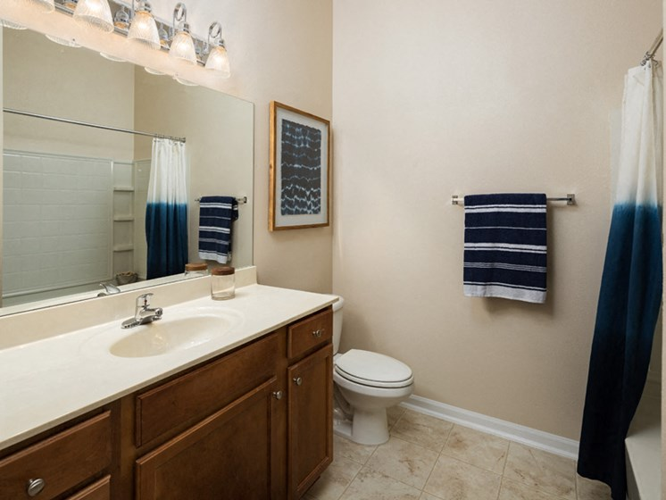 Large Marble Bathroom Vanities at Abberly at West Ashley Apartment Homes by HHHunt, South Carolina