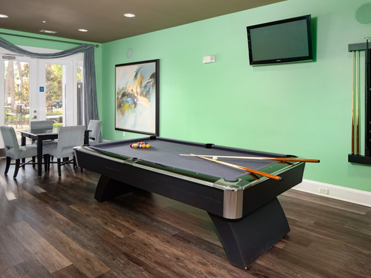 Pool Table in Game Room at Abberly at West Ashley Apartment Homes by HHHunt, Charleston, SC