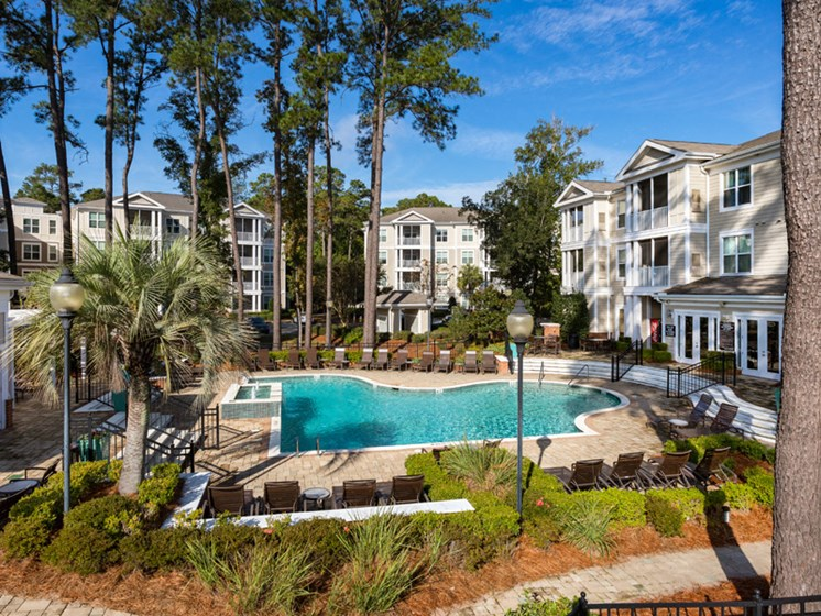 Resort Inspired Pool at Abberly at West Ashley Apartment Homes by HHHunt, Charleston, SC