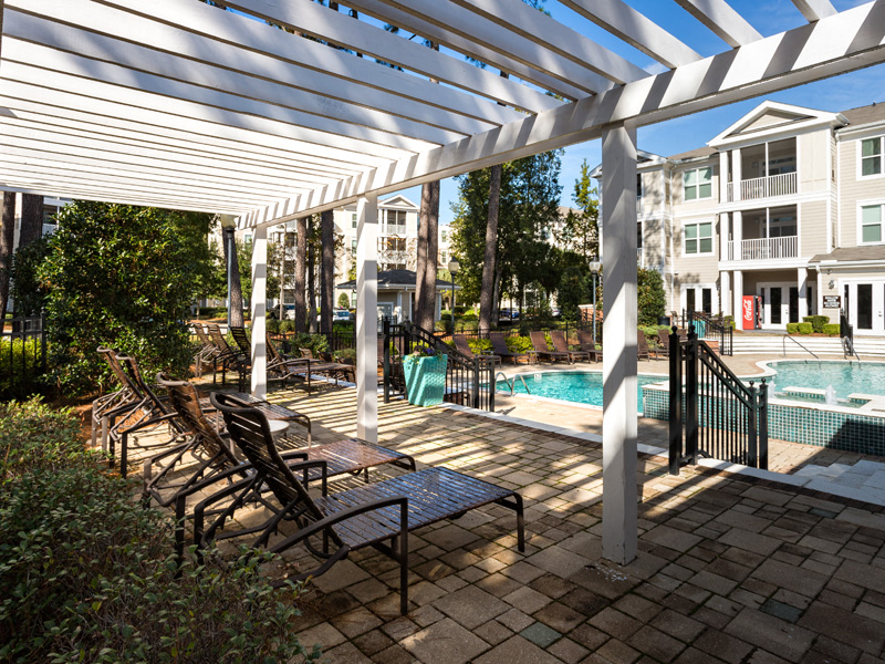 Covered Patio at Abberly at West Ashley Apartment Homes, Charleston, South Carolina