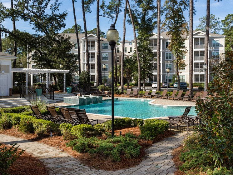 Manicured Plantings at Abberly at West Ashley Apartment Homes by HHHunt, South Carolina
