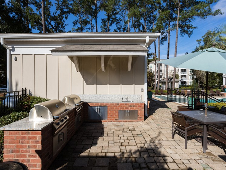 Community Grilling Stations at Abberly at West Ashley Apartment Homes by HHHunt, South Carolina, 29414