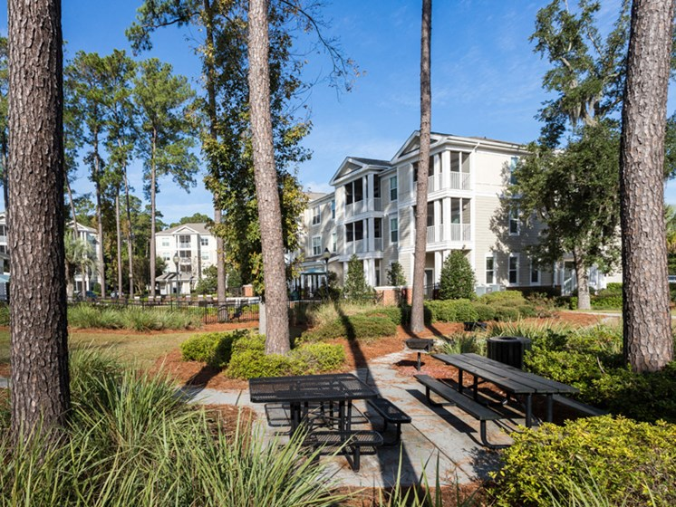 Secured Beautiful Gardens at Abberly at West Ashley Apartment Homes, Charleston, SC, 29414