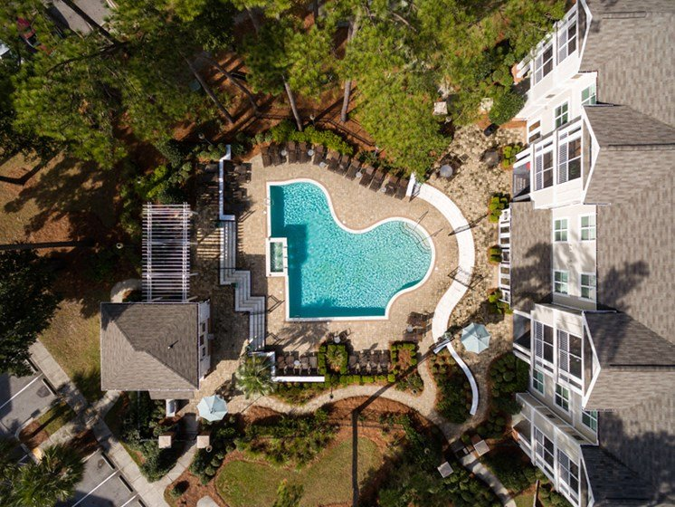 Arial View of Property at Abberly at West Ashley Apartment Homes by HHHunt, Charleston