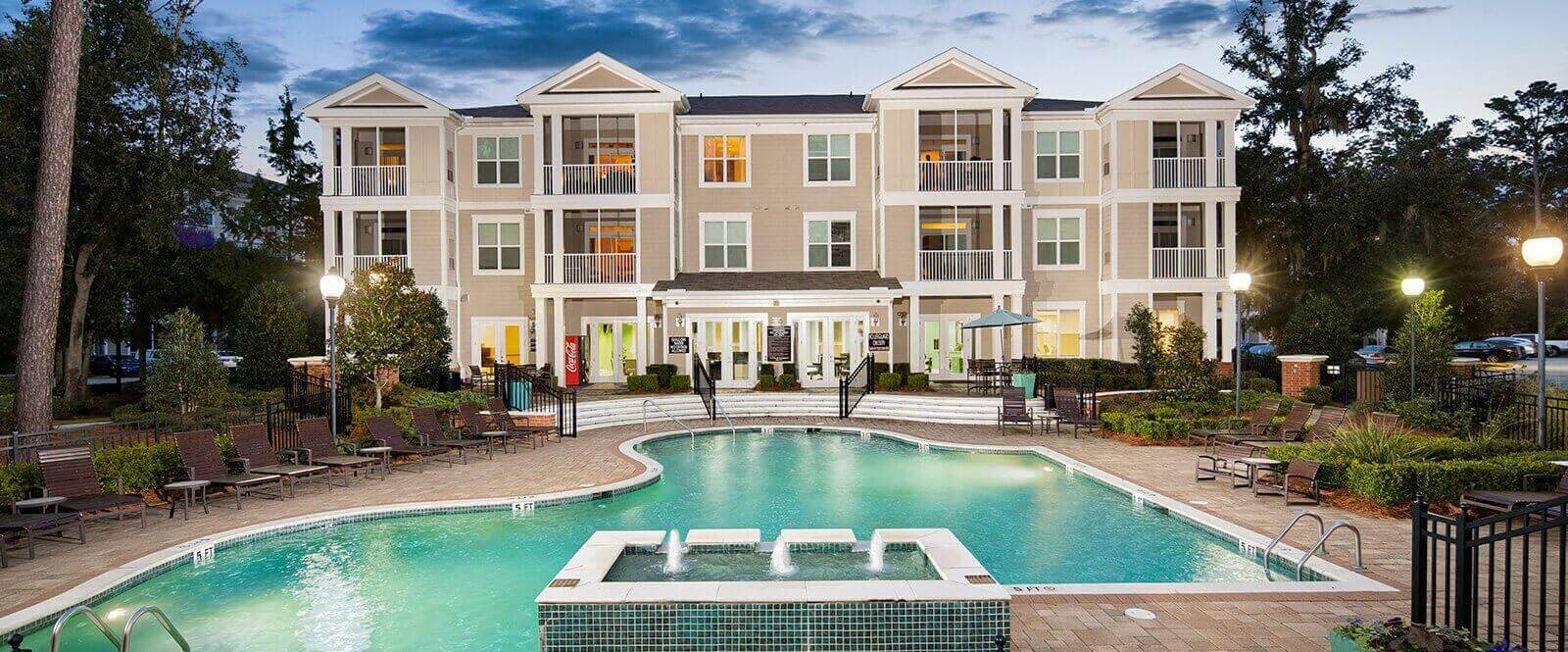 Swimming Pool with Sunning Deck at Abberly at West Ashley Apartment Homes by HHHunt, Charleston, 29414