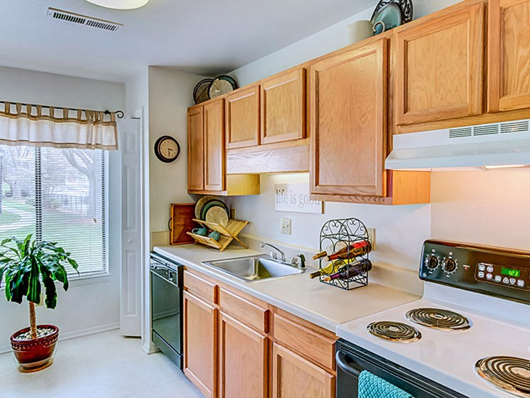 Well Equipped Kitchen at Honeywood Apartment Homes, Virginia