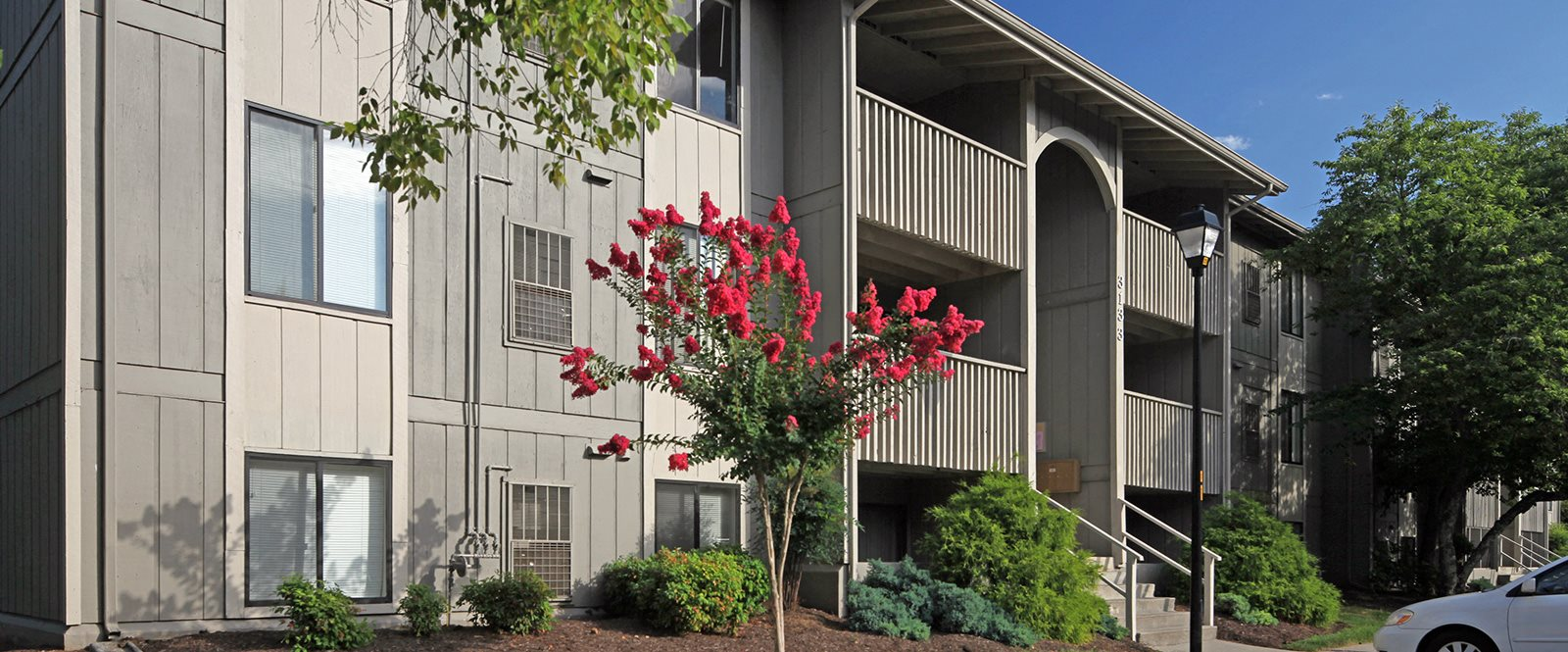 Elegant Exterior View Of Property at Honeywood Apartment Homes by HHHunt, Roanoke
