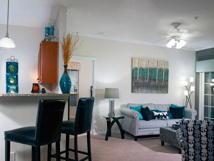 Classic Living Room Design at Abberly Twin Hickory Apartment Homes, Glen Allen, VA, 23059