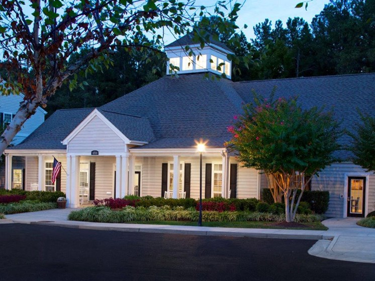 Elegant Exterior View Of Clubhouse at Abberly Twin Hickory Apartment Homes, Virginia