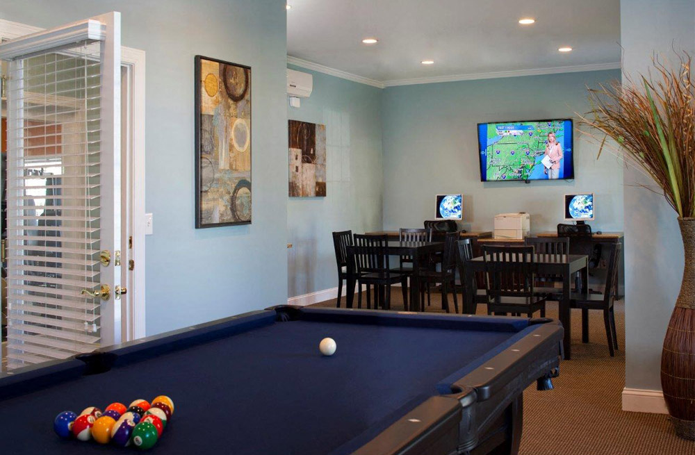 Billiards Table at Abberly Twin Hickory Apartment Homes, Virginia, 23059
