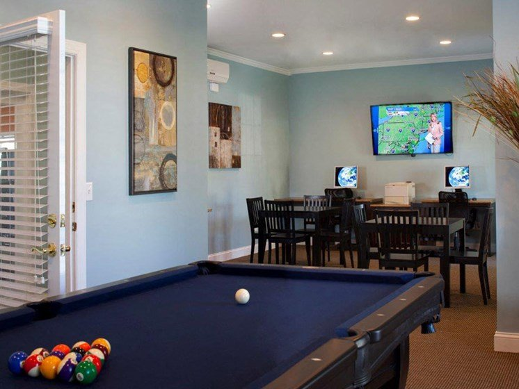 Billiards Table at Abberly Twin Hickory Apartment Homes by HHHunt, Virginia, 23059