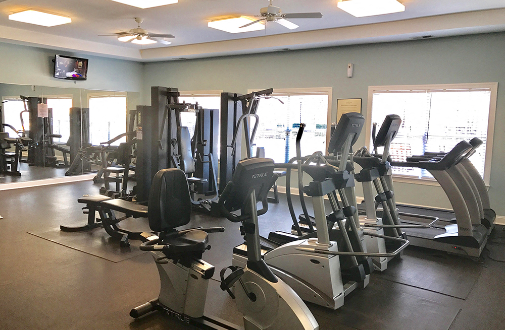 Fully Equipped Fitness Center at Abberly Twin Hickory Apartment Homes, Glen Allen
